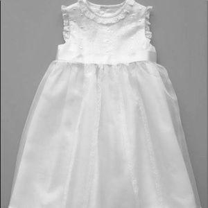 LULI & ME Organza White Silk Dress